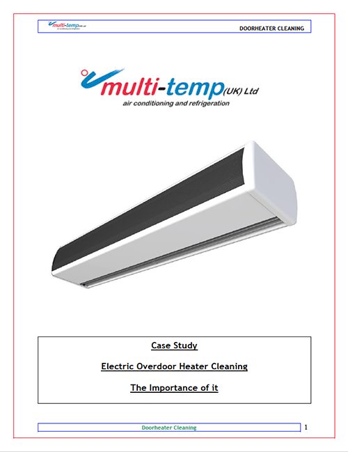 Electric Overdoor Heater Cleaning Case Study